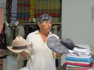 Deb Moroney shows us a few hat styles.