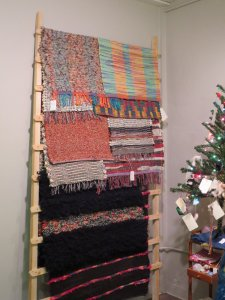 Lots of woven rugs.