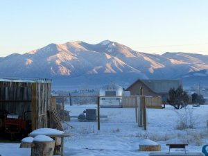 Taos just after sunrise.