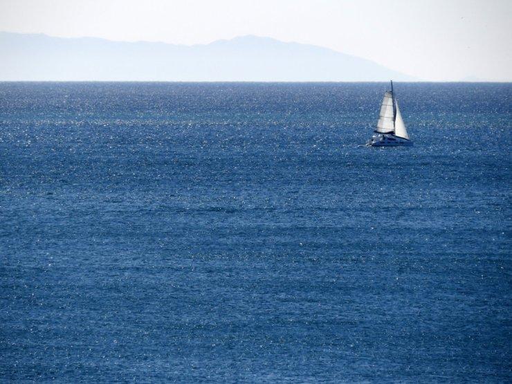 Santa Catalina Island in the background