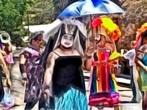 Several of the Grand Canyon Ladies of Perpetual Indulgence - with thanks to Lucy St. John of Bisbee for the photo!