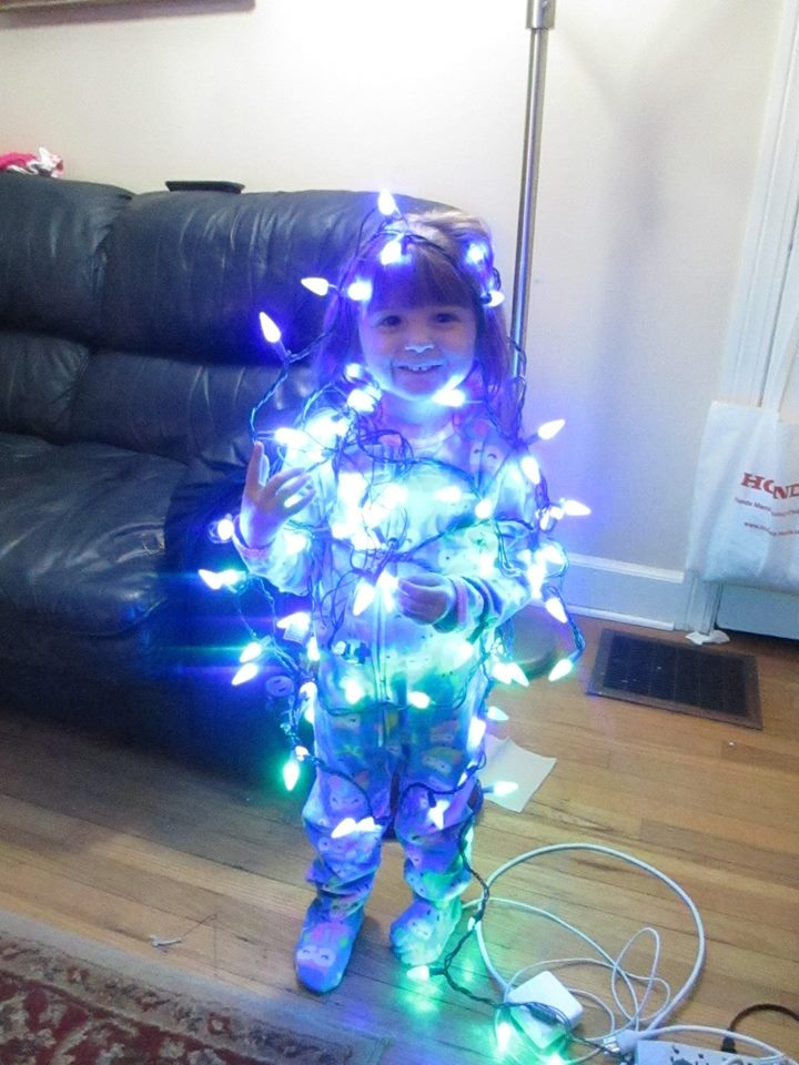My grand niece, all decked out.