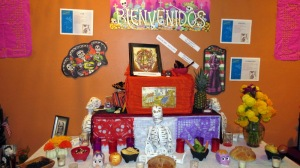 One of the altars by the Mexican Consulate in Douglas.