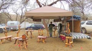 DJ of Benson and his beautiful mesquite creations.