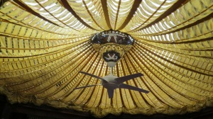 The main house (Barbara's) has a skylight with this fab parachute beneath it!