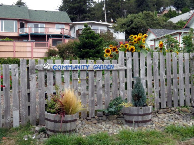 Yachats, with only just over 700 people, has a sweet little community garden.
