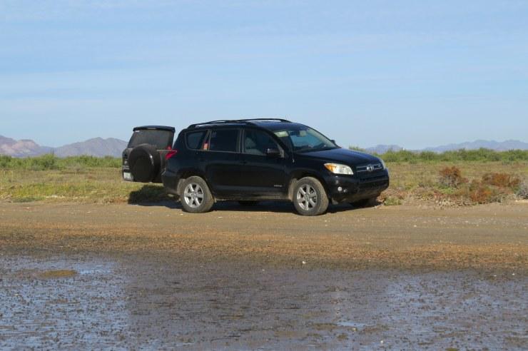 parked on beach